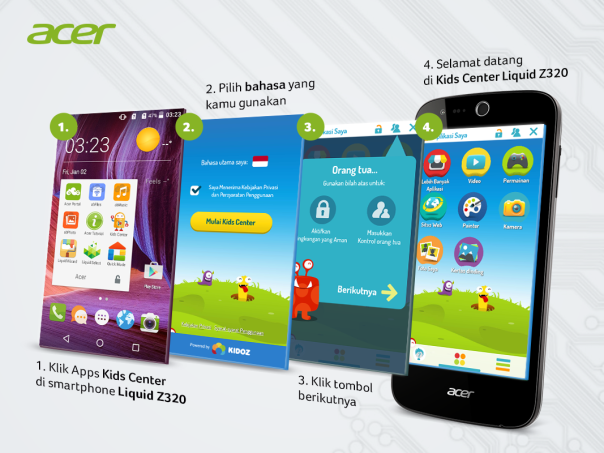 kids center acer liquid z320