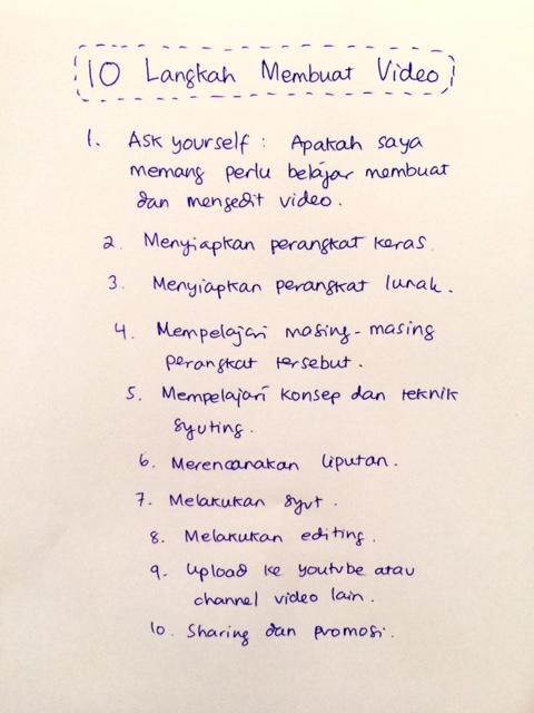 langkah membuat video