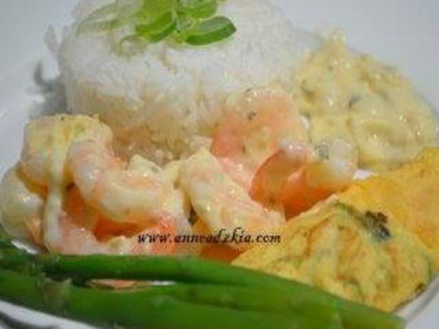 udang krim bawang putih