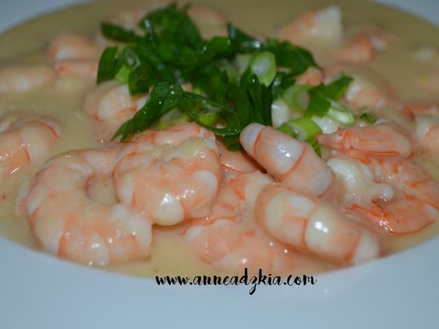 creamy garlic prawn