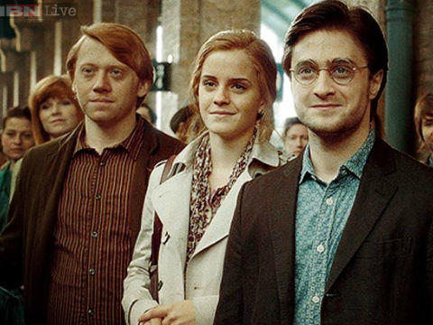 harry ron hermoine