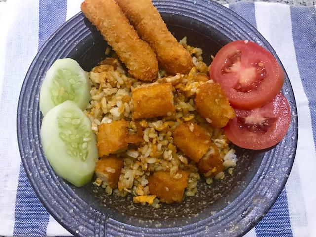 chicken stick fried rice
