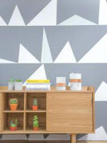 pengecatan motif geometris