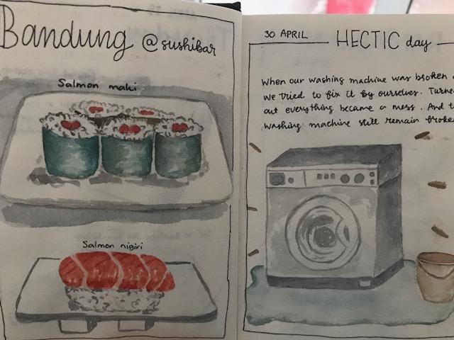 sketched journal