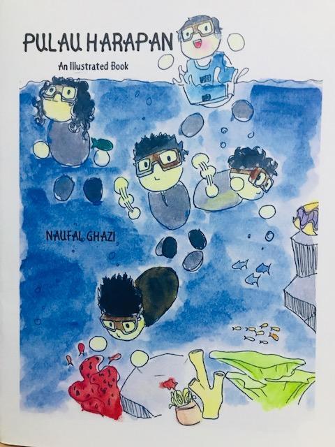 buku ilustrasi pulau harapan