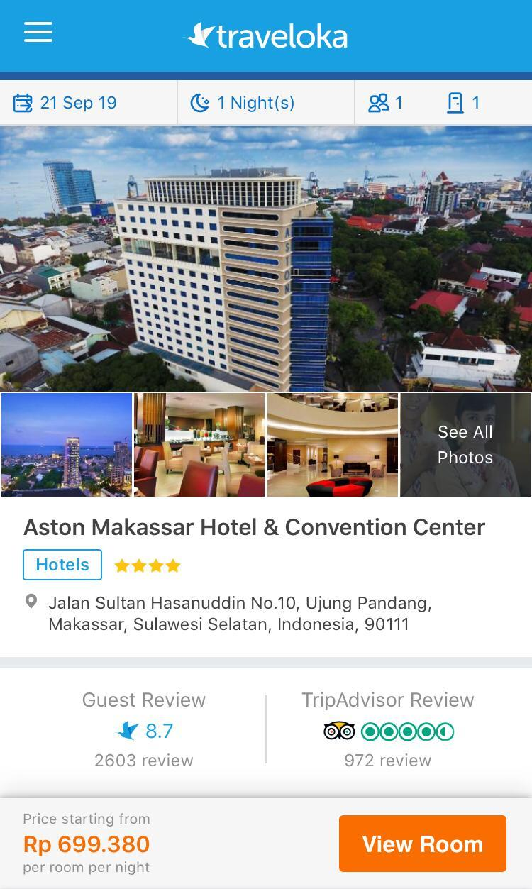 booking hotel di traveloka